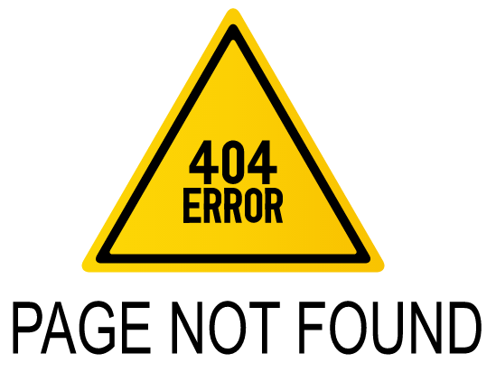Eroor 404, Page not found.
